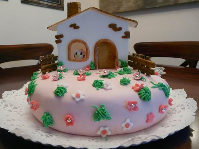 decoración pastel idea original una casa