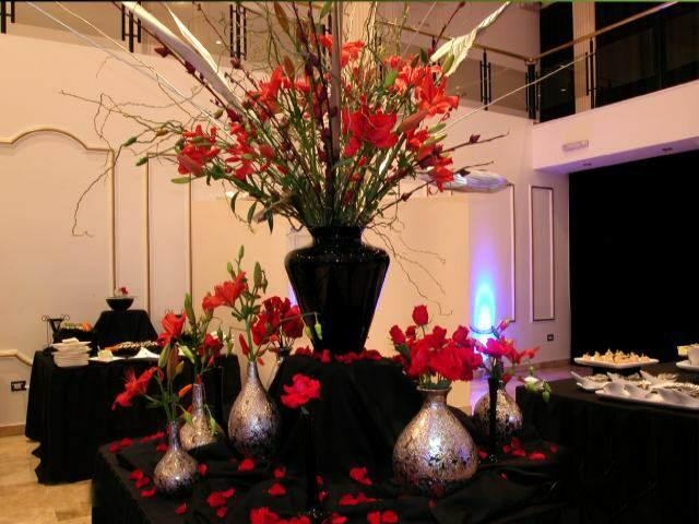 decoración ramos de flores una idea para su fiesta de aniversario
