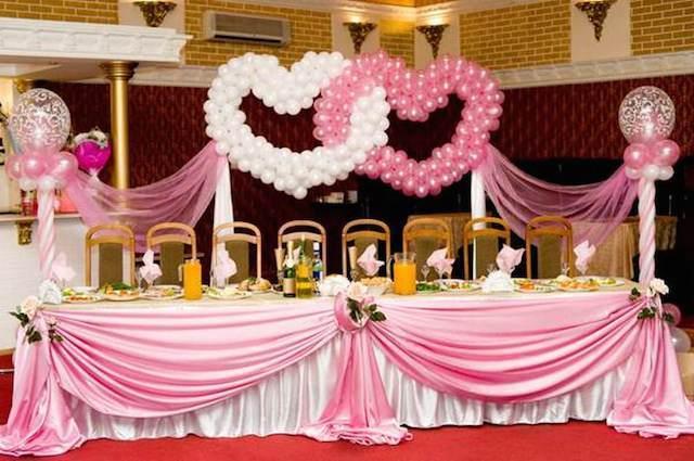 decoraci n tierna en color roza y blanco con globos para boda