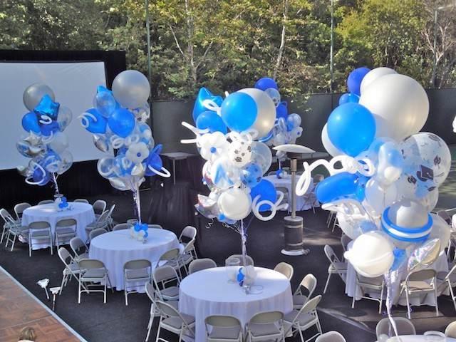 decoraciones con globos con diferentes tamaños para fiestas