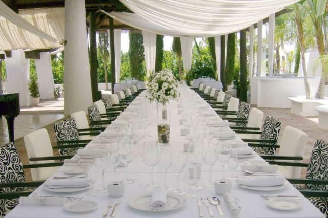 detalle de boda la decoración sala de evento o restaurante