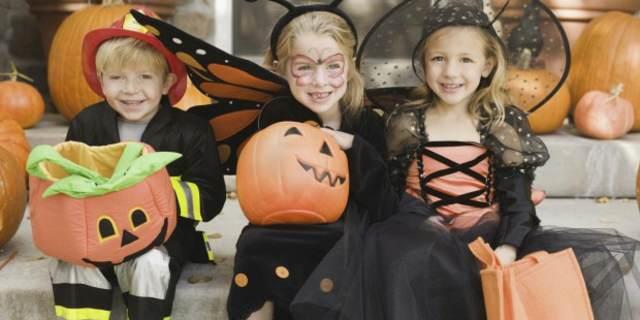 disfraces para niños fiesta de halloween calabazas