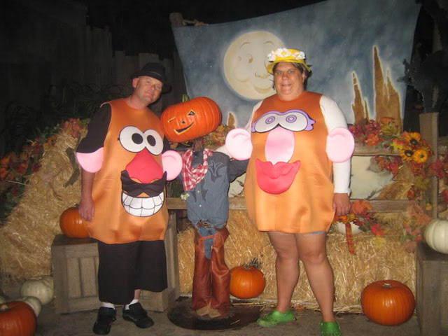 disfraces para Halloween Señor y Señora cara papa