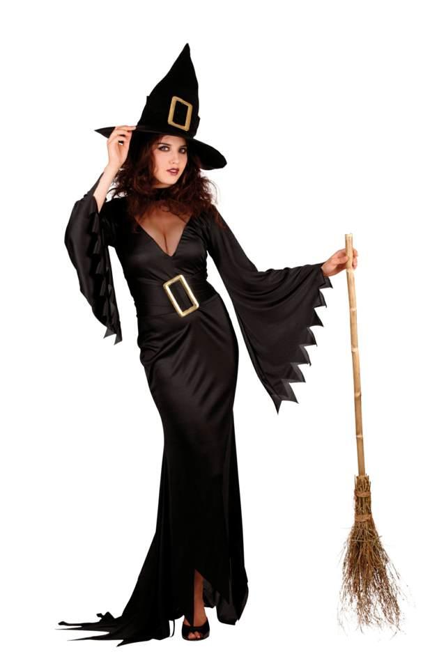 disfraces para Halloween una bruja  con esoba