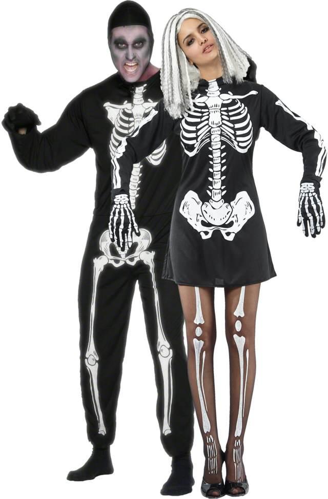 disfraces de halloween para pareja esqueletos