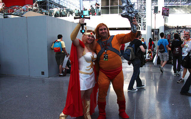disfraces no estándares para parejas She-Ra y He-Man
