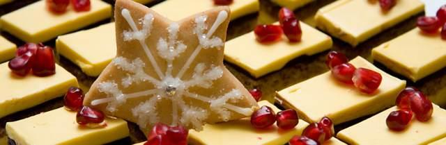 dulces para Navidad decoradas forma de copo de nieve