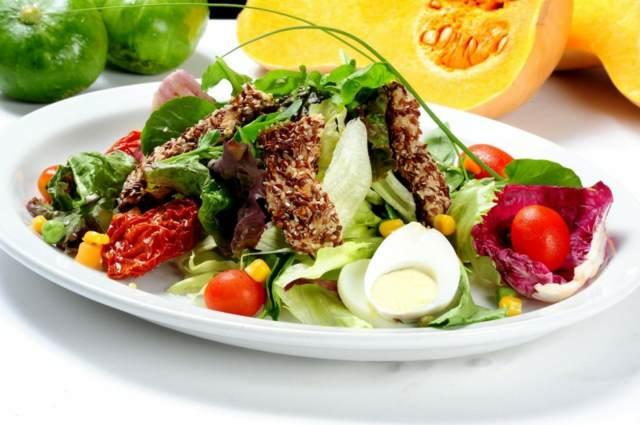 ensalada preciosa la comida vegetariana