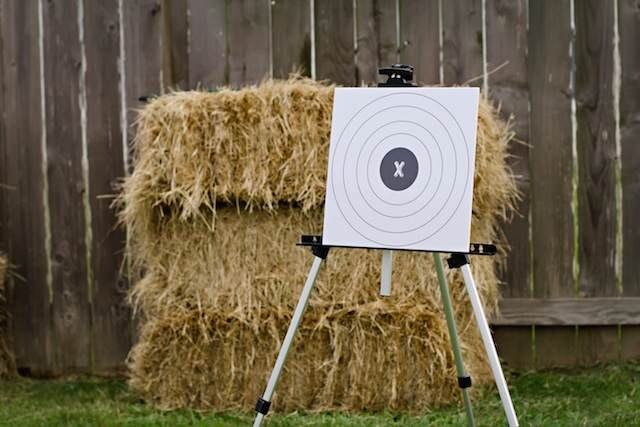 estilo campo fiestas infantiles heno juegos tiro al blanco