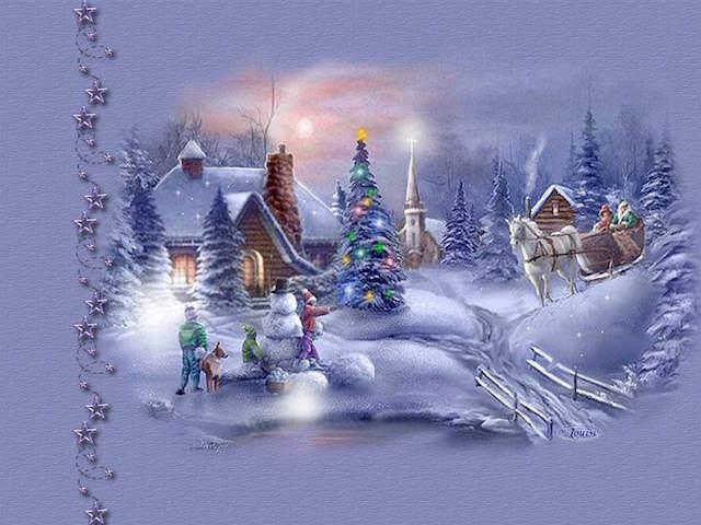 tarjetas de Navidad estilo vintage ilustrada invierno nieve