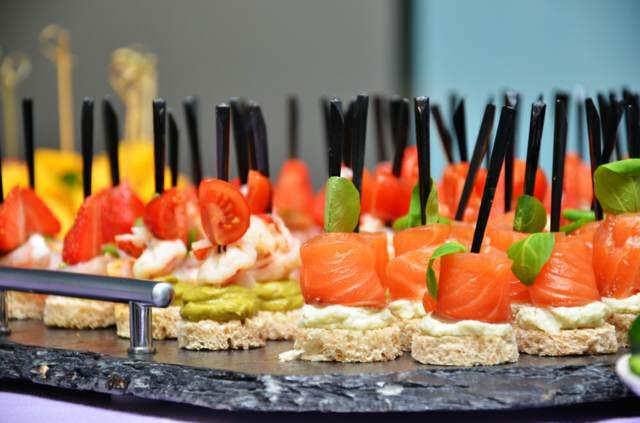 evento canapes catering organización