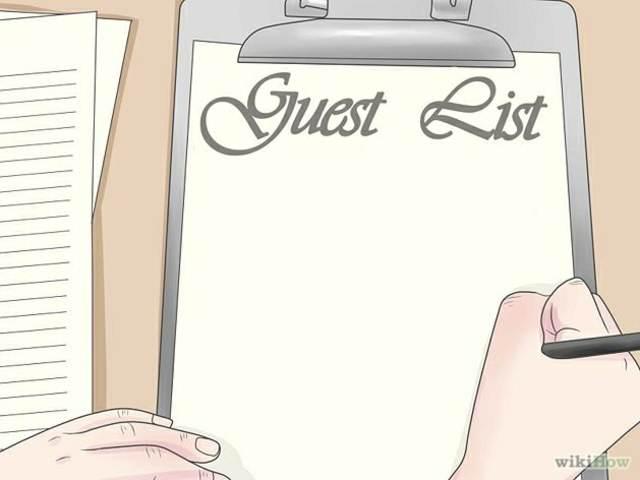 fiesta de aniversairio lista de invitados