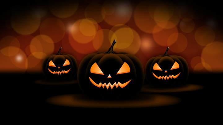 fiesta de Halloween las calabazas luminosas