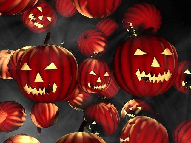fiesta famosa halloween unas calabazas