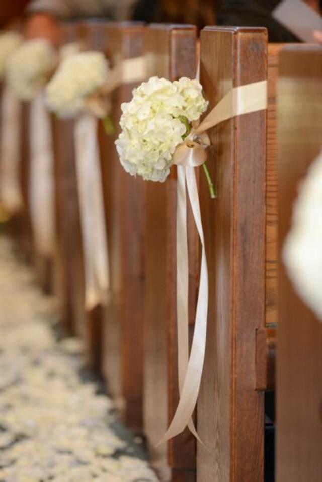 flores decoración para sillas boda