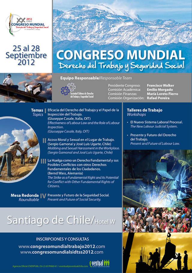 folleto de congreso mundial derecho trabajo seguridad