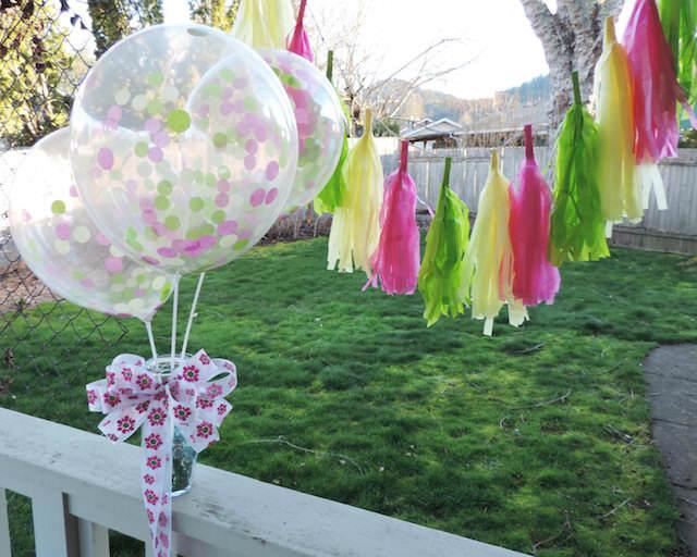 globos confeti decoración tierna para cada fiestas