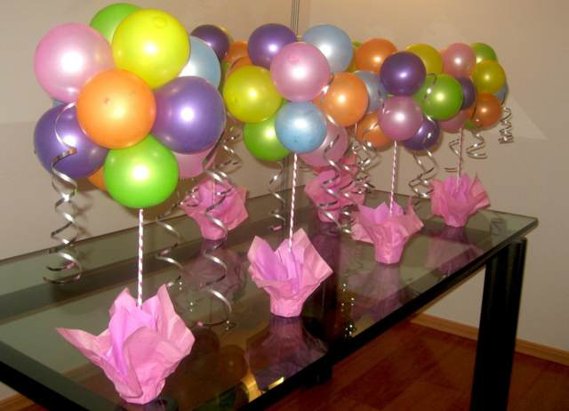 globos de helio decoración idea interesante