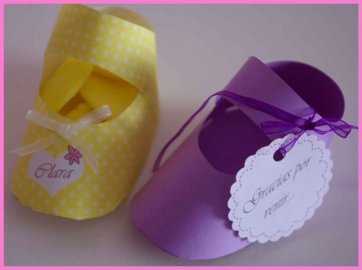 ideas decoración bautizo zapatillas