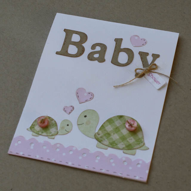 invitación baby shower tortugas detalles hechos a mano