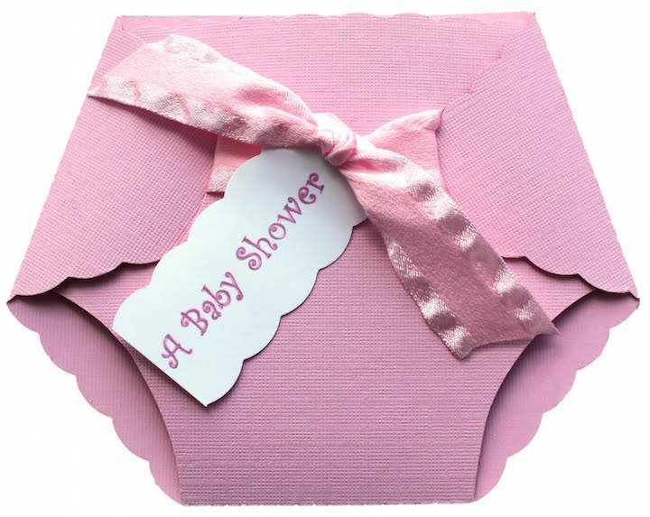 Diaper Shaped Baby Shower Invitations with nice invitations design