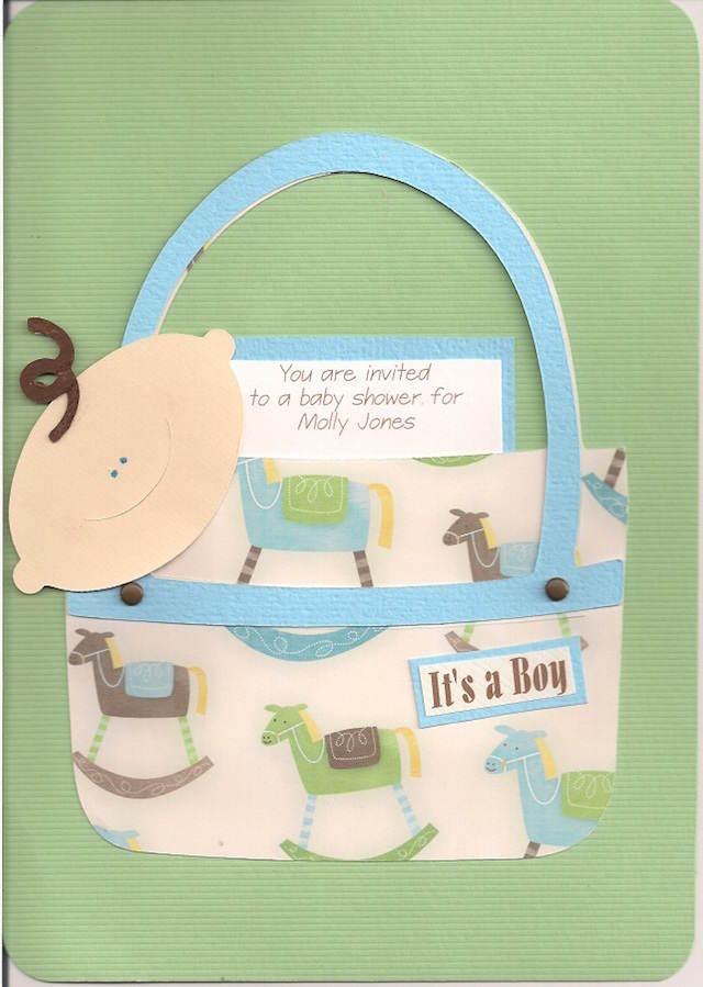 invitaciones para baby shower hechas a mano muchacho