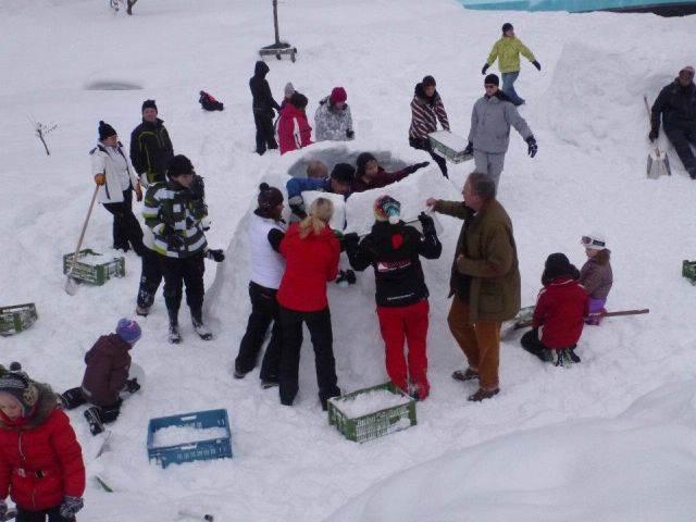 juegos team building divertidos durante invierno