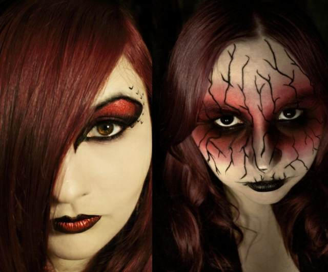 maquillaje para halloween unos colores oscuros