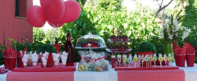mesa decoración las fiestas infantiles