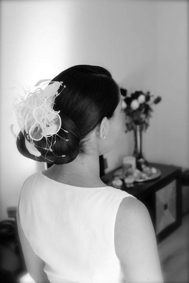 moño bajo peinado de novia estilo clásico