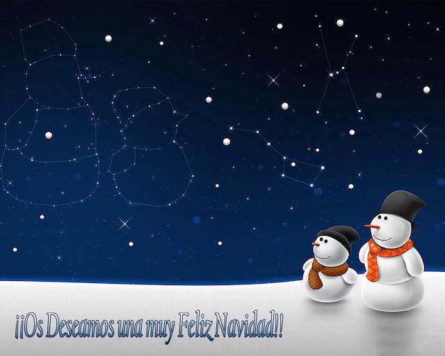 muñecos de nieve tarjetas de Navidad preciosas