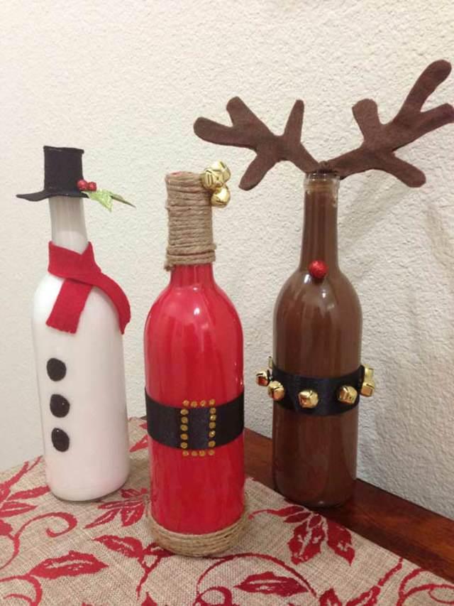navidad una decoración original botellas