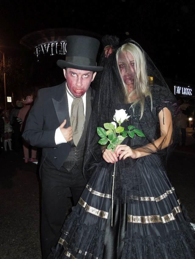 novia cadáver su amante disfraces de Halloween negro