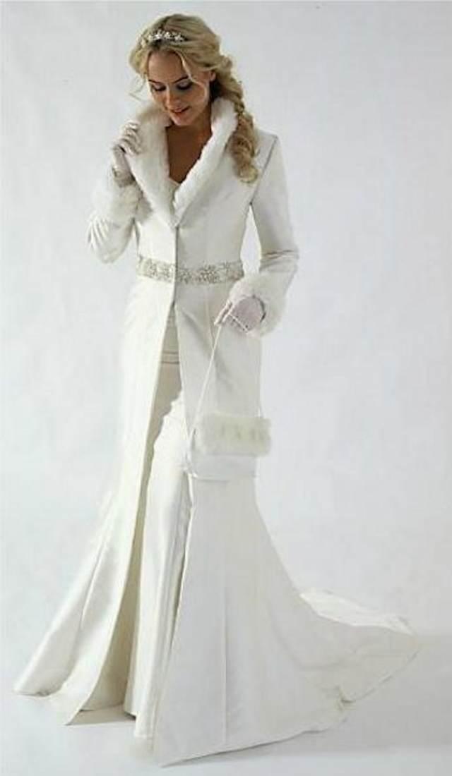 novia vestida estilo cuento de hadas invierno 2014