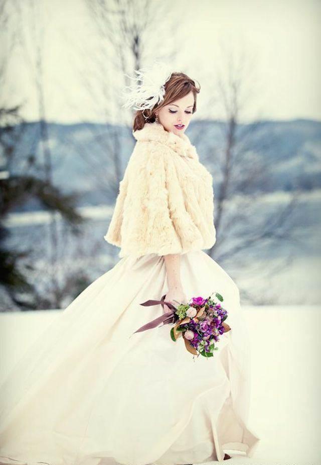 novia preciosa tierna estilo invernal