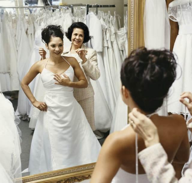 organización de boda vestido novia prueba