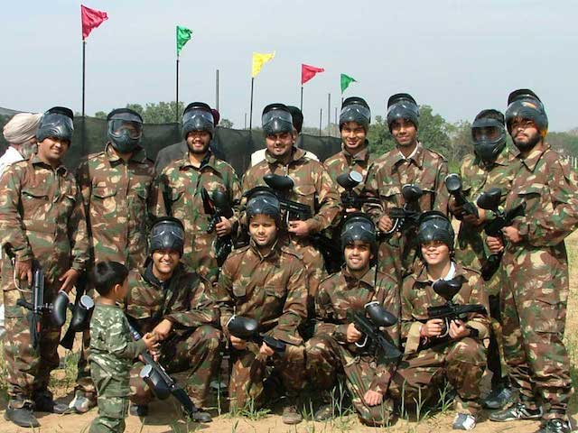 paint ball team building juegos equipo