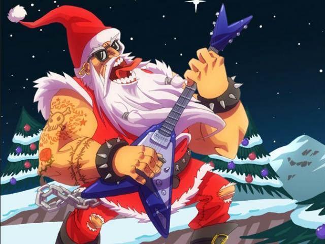 papa Noel concierto rock canciones de Navidad