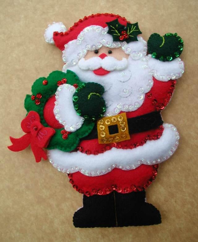 Decoracion de navidad para puertas papa noel - Decoracion adornos navidenos ...