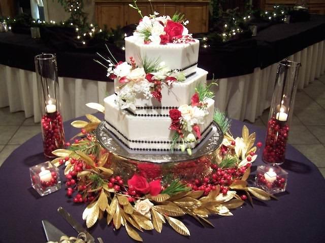 Fiestas tem225ticas corporativas fiesta navide241a : pastel blanco fino con decoracion tema navidena from ideasdeeventos.com size 640 x 480 jpeg 54kB