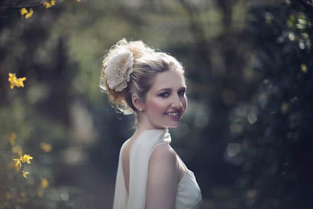 peinado de novia estilo retro de años 60