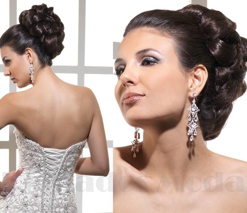 peinado y maquillaje elegante para la novia boda