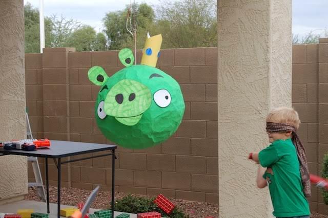 piñata bad piggies decoración divertida fiesta infantil
