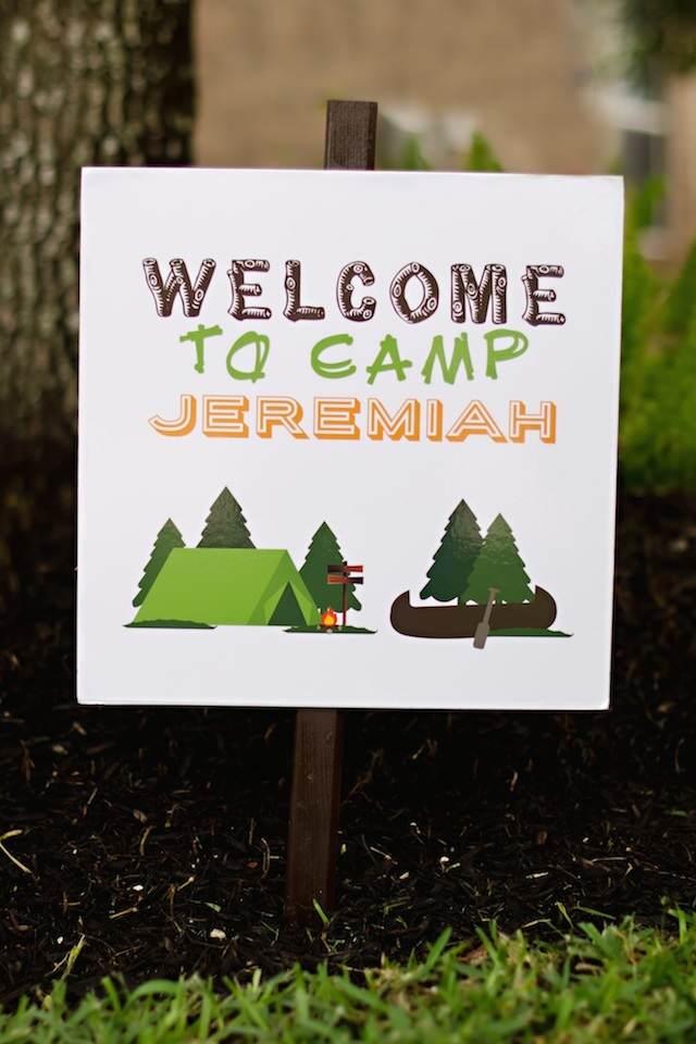 placa entrada inscripción fiesta tema campo bienvenidos