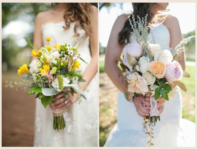 ramos de novia con mucho estilo