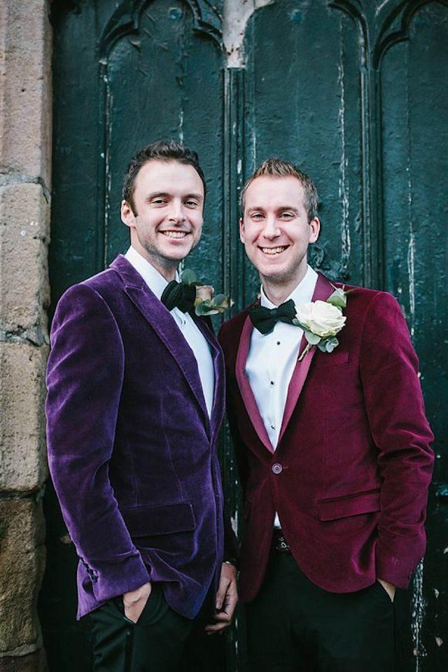 traje para boda estilo terciopelo moderno