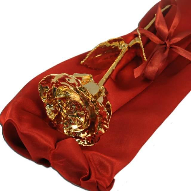 regalo de aniversario rosa de oro personalizada maravillosa