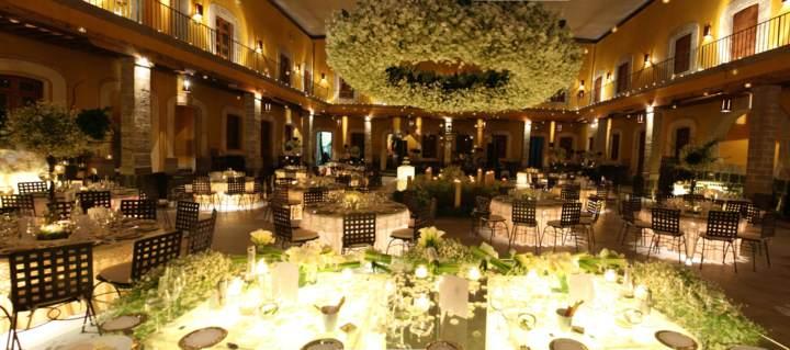 sala de banquete una decoración magnífca