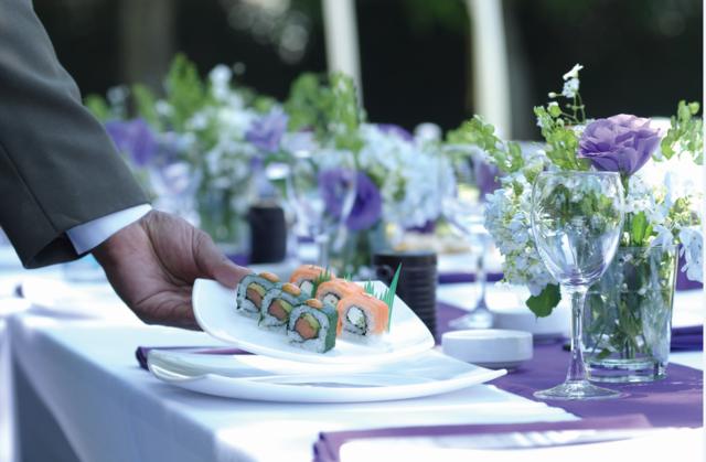 sushi banquete una decoración