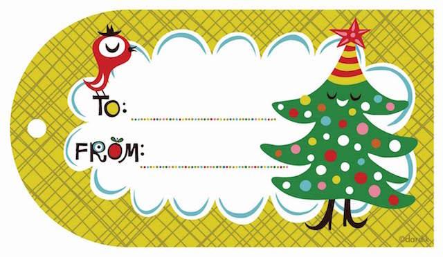 tarjetas de navidad hechas a mano árbol pájaro